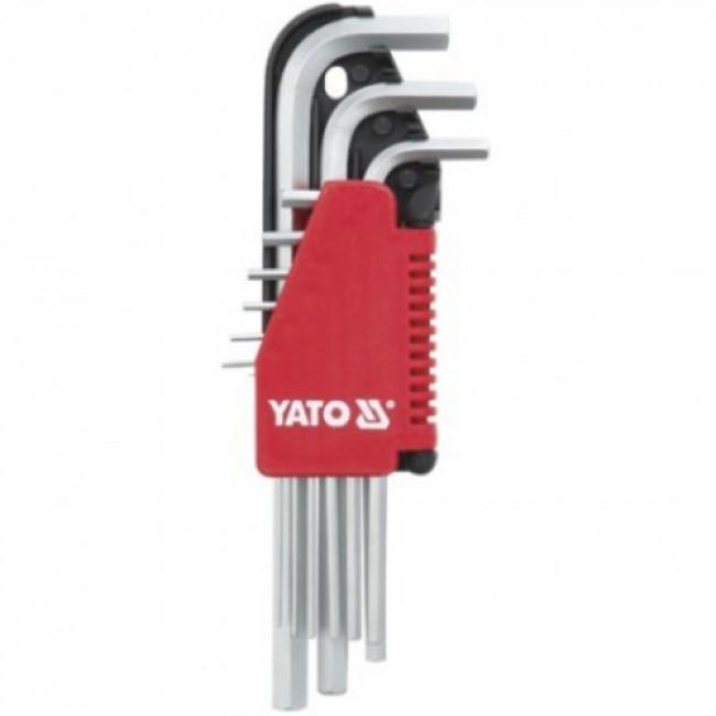 YATO YT-0502  ΚΛΕΙΔΙΑ ALLEN ΣΕΤ 9 ΤΜΧ.LONG 2.0-10.0mm
