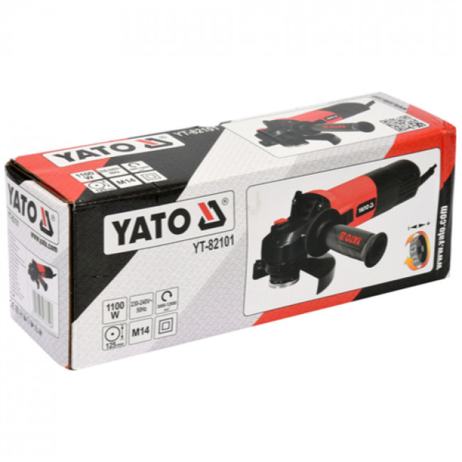 YATO YT-82101 ΡΥΘΜΙΖΟΜΕΝΟΣ ΓΩΝΙΑΚΟΣ ΤΡΟΧΟΣ 1100W Φ125