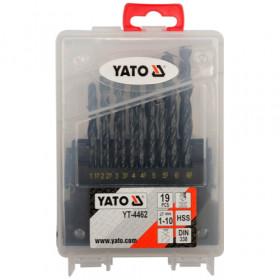 YATO YT-4462 ΣΕΤ ΤΡΥΠΑΝΙΑ HSS 19 ΤΕΜ 1-10mm DIN 338