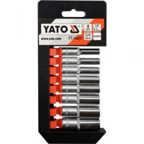 YATO YT-14431 ΣΕΤ ΚΑΡΔΥΔΑΚΙΑ ΜΑΚΡΥΑ 1/4΄ 8 ΤΕΜ