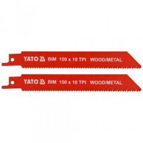 ΥΑΤΟ ΥΤ-33930 ΛΑΜΑ ΣΠΑΘΟΣΕΓΑΣ 2 ΤΕΜ 150mmX10 TPI METAL-WOOD