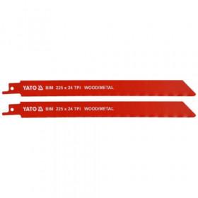 ΥΑΤΟ ΥΤ-33934 ΛΑΜΑ ΣΠΑΘΟΣΕΓΑΣ 2 ΤΕΜ 225mmX24 TPI METAL-WOOD