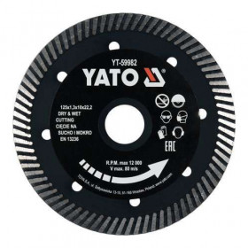 YATO YT-59982 ΔΙΑΜΑΝΤΟΔΙΣΚΟΣ 125Χ1,3mm