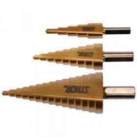 STHOR 22616 ΤΡΥΠΑΝΙΑ ΒΑΘΜΩΤΑ 4-32mm ΣΕΤ 3ΤΕΜ
