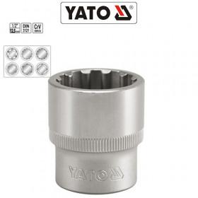 YATO ΚΑΡΥΔΑΚΙΑ ΠΟΛΥΓΩΝΑ 1/2 CrV (10-32 mm)