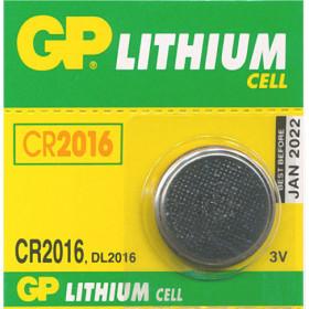 GP CR2016 ΜΠΑΤΑΡΙΑ ΛΙΘΙΟΥ 3V