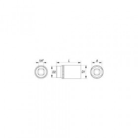 YATO YT-1419 ΚΑΡΥΔΑΚΙ ΜΑΚΡΥ 1/4 Νο8