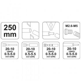 YATO YT-2254 ΠΡΕΣΣΑ ΑΚΡΟΔΕΚΤΩΝ - ΑΠΟΓΥΜΝΩΤΗΣ