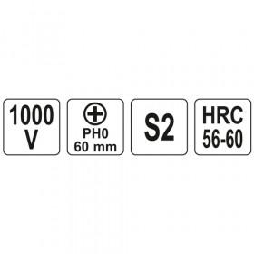 YATO YT-2821 ΚΑΤΣΑΒΙΔΙ ΗΛΕΚΤΡΟΛΟΓΩΝ VDE PH0X60mm