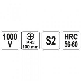 YATO YT-2823 ΚΑΤΣΑΒΙΔΙ ΗΛΕΚΤΡΟΛΟΓΩΝ VDE PH2X100mm