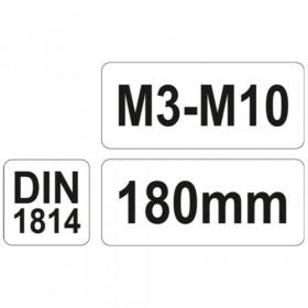 YATO YT-2996 ΜΑΝΕΛΑ ΚΟΛΑΟΥΖΩΝ Μ3-Μ10