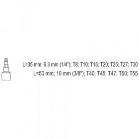 YATO YT-04332 ΚΑΡΥΔΑΚΙΑ TORX ΣΕΤ 12 ΤΕΜ 1/4-3/8 CR-V