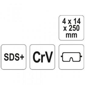 YATO YT-4720 ΒΕΛΟΝΙ SDS PLUS 250mm CRV