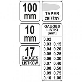 YATO YT-7220 ΦΙΛΕΡ 100mm 17 λάμες