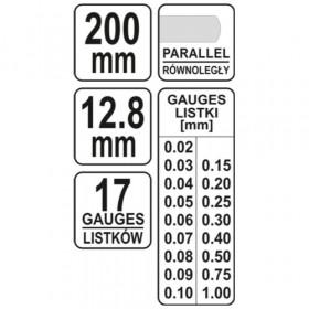 YATO YT-7221 ΦΙΛΕΡ 200mm 17 λάμες
