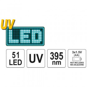YATO YT-08581 ΦΑΚΟΣ UV LED ΜΕ ΓΥΑΛΙΑ