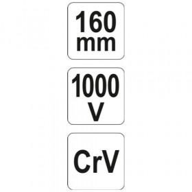 YATO YT-21154 ΜΥΤΟΤΣΙΜΠΙΔΟ ΗΛΕΚΤΡΟΛΟΓΟΥ 160mm 1000V VDE