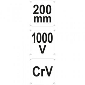 YATO YT-2155 ΜΥΤΟΤΣΙΜΠΙΔΟ ΗΛΕΚΤΡΟΛΟΓΟΥ 200mm 1000V VDE