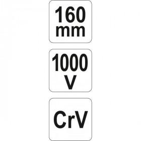 YATO YT-21158 ΠΛΑΓΙΟΚΟΦΤΗΣ ΗΛΕΚΤΡΟΛΟΓΩΝ 160mm VDE CrV 1000V
