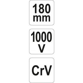 YATO YT-21159 ΠΛΑΓΙΟΚΟΦΤΗΣ 180mm VDE CrV 1000V
