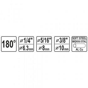 YATO YT-21840 ΚΟΥΡΜΠΑΔΟΡΟΣ ΧΕΙΡΟΣ  6-10mm 3σε1 0-180