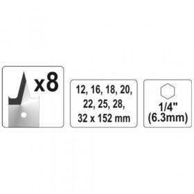 YATO YT-3259 ΣΕΤ ΤΡΥΠΑΝΙΑ ΦΤΕΡΟΥ 8 ΤΕΜΑΧΙΩΝ