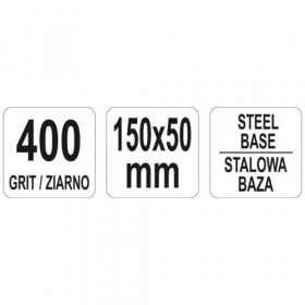 YATO YT-76086 ΠΛΑΚΑ ΑΚΟΝΙΣΜΑΤΟΣ G400 150Χ50ΜΜ