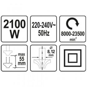 YATO YT-82380 ΗΛΕΚΤΡΙΚΟ ΡΟΥΤΕΡ 2100W