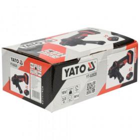 YATO YT-82828 ΓΩΝΙΑΚΟΣ ΤΡΟΧΟΣ ΜΠΑΤΑΡΙΑΣ 18V/125mm 2X3Ah