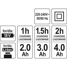 YATO YT-82848 ΦΟΡΤΙΣΤΗΣ Li-Ion 1h 18V