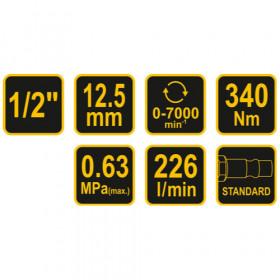 VOREL 81100 ΑΕΡΟΚΛΕΙΔΟ 1/2 340 Nm