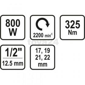 STHOR 57091 ΜΠΟΥΛΟΝΟΚΛΕΙΔΟ 800W  1/2 325NM