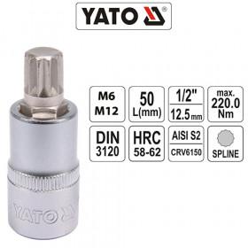 YATO ΚΑΡΥΔΑΚΙΑ ΠΟΛΥΣΦΗΝΑ 1/2 CrV (6-12mm)